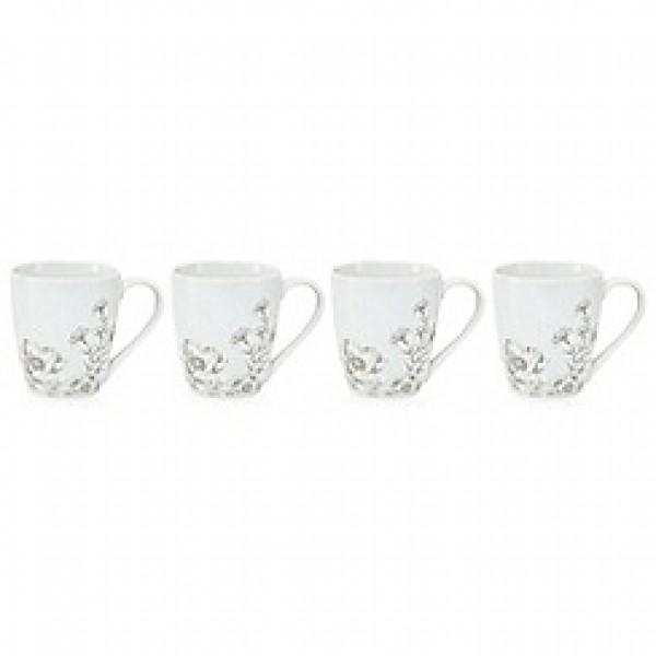 Gėlėtų puodelių rinkinys x 4