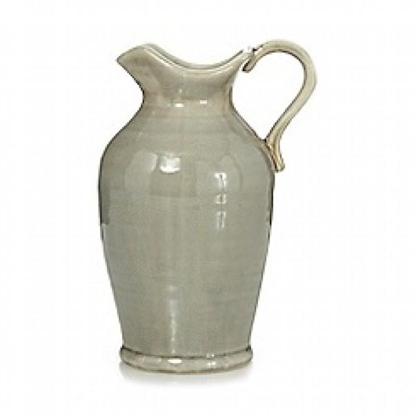 Keramikinė šviesiai žalsva vaza