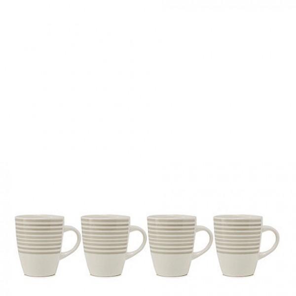 Dryžuotų puodelių rinkinys x 4