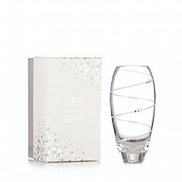 Stiklo vaza su Svarovskio kristalais