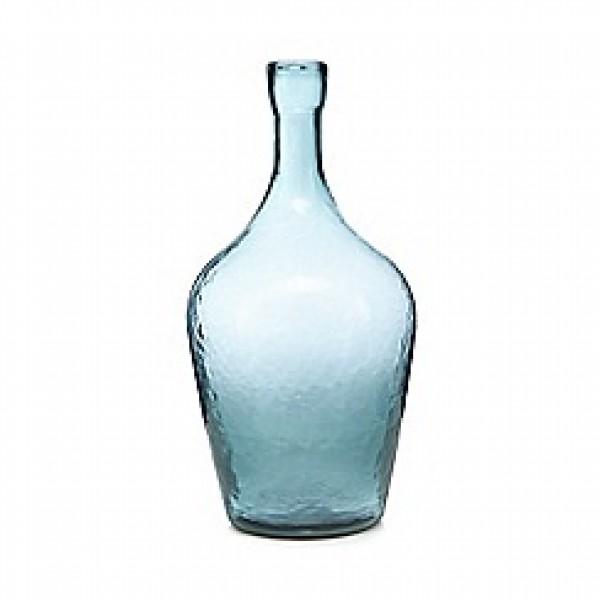 Stiklo vaza turkio spalvos