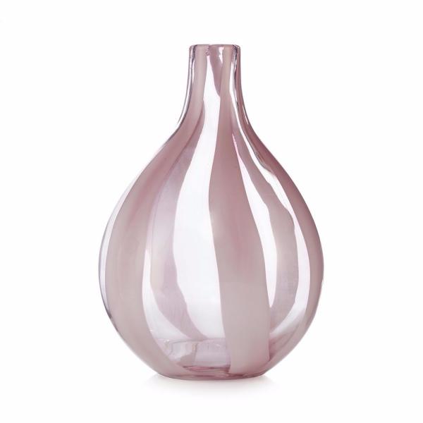 Stiklo vaza rožinė, ARTGLASS