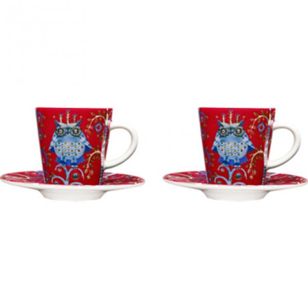 Espresso puodelio su lėkštute rinkinys raudonas x 2, IITTALA