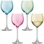 Vyno taurės pastelinių spalvų x 4 POLKA