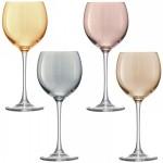 Vyno taurės metalo blizgesio x 4 POLKA