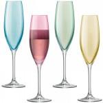 Šampano taurės pastelinių spalvų x 4 POLKA