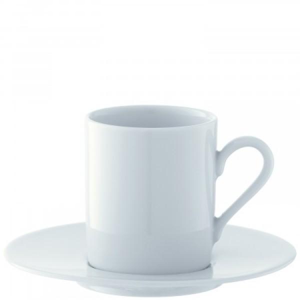 Espresso kavos puodelių su lėkštutėmis rinkinys X 4, DINE