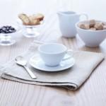 Espresso kavos puodelių su lėkštutėmis rinkinys 100 ml x 4, DINE