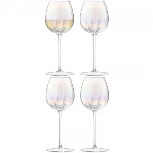 Baltojo vyno taurės x 4 PERLAS