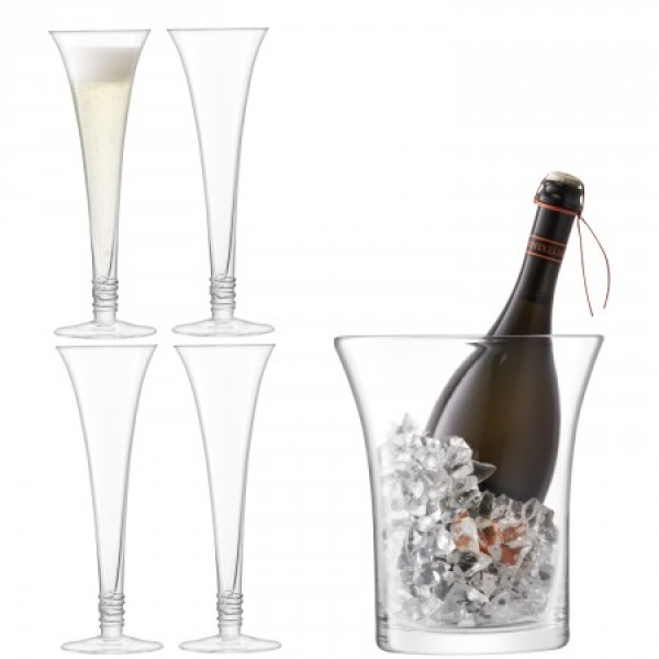 Vyno taurių ir kibirėlio rinkinys PROSECCO