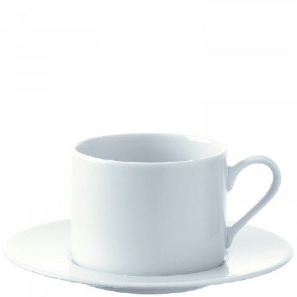 Puodelių su lėkštutėmis rinkinys 250 ml x 4, DINE